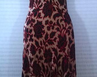 1990's Vintage Velveteen Dress