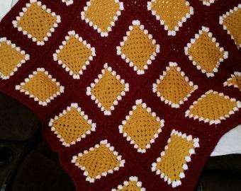 Florida Seminoles Crocheted Granny Square Throw