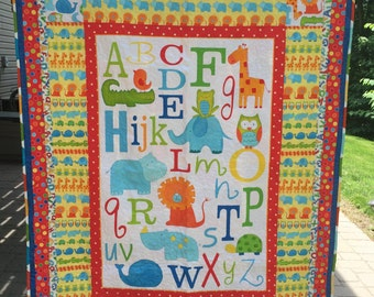 Alphabet Baby Quilt - Primary Colors