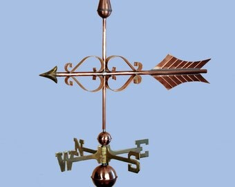Copper Fancy Arrow Weathervane BH-WS-107