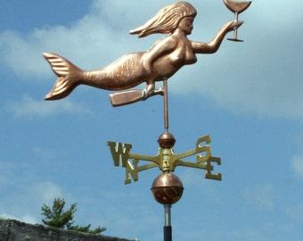 Copper Mermaid Weathervane - BH-WS-237