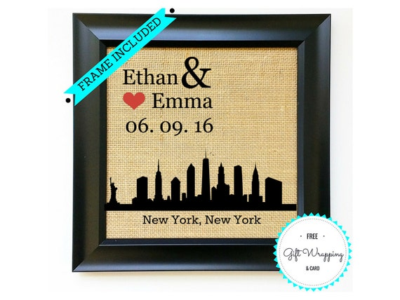 Unique Wedding Gifts Nyc : NEW YORK Personalized Bridal Shower Gift Unique Wedding Gifts ...