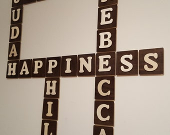 Custom Crossword Wall Art