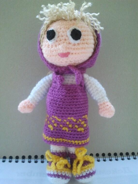 Amigurumi Russian Dolls : Doll Masha The Russian Girl Crochet Masha First toy baby