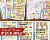 LDS PLANNER Sticker Kit, Mormon Mom Home & Family Edition, Spring Collection Stickers - 3 Sheets, 193 Stickers!