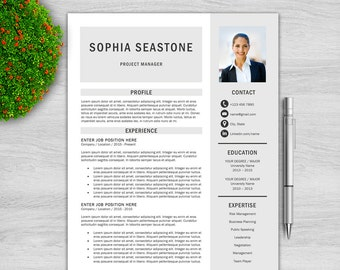 Professional Resume Template  for Word + Cover Letter + References, Modern Resume Template, Creative Resume Template, Resume Template