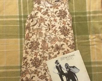 Vintage 70s Floral Shift Dress