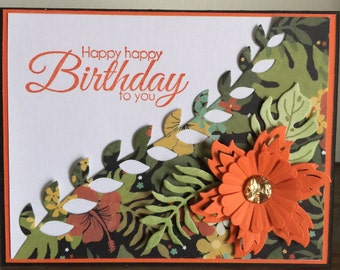 C23 Happy Birthday card, Handmade card
