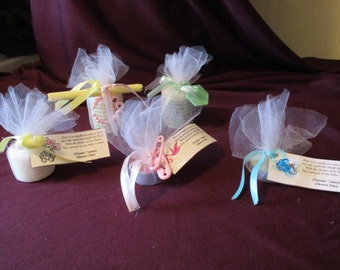 Handmade Personalized Baby Shower Candle Favors