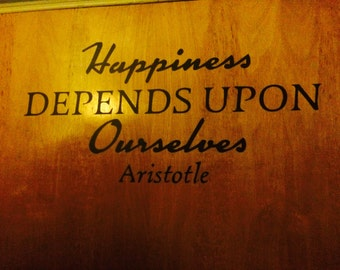 Aristotle Happiness Quote
