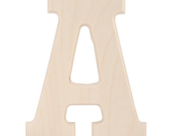 Wooden Block Letter or Number - to be purchased as an add on to a wreath order