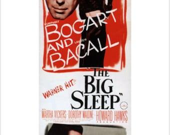 1946 Bogart & Bacall In The Big Sleep Movie POSTER FILM NOIR Criminal 24x36