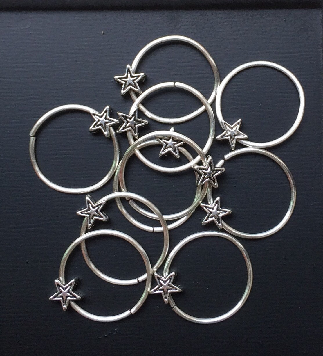 Silver hair rings silver star hair accessories for by ...