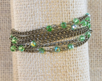 Green Crystal Bracelet (One of a kind)