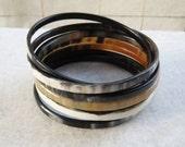 Bangle Bracelet Set, Bracelet Set, Horn Bracelet, Bohemian Bracelet, Bangle Set, Horn Bangle, Bangle Bracelet, Artisan Jewelry, many sizes