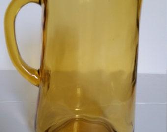 Indiana Glass Amber Pitcher