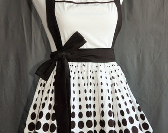 Retro double lined flirty apron