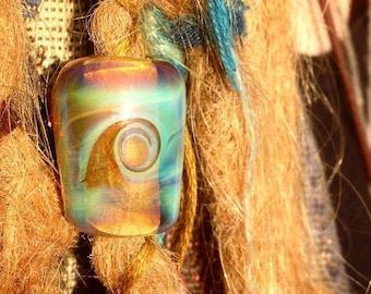Cosmic Hair/Dreadlocks Bead, dreadlock bead, glass dread bead, glass bead, hair bead, dreadlock accessories, lampwork bead