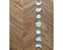 Moon Phases Wall Hanging - White Black Grey