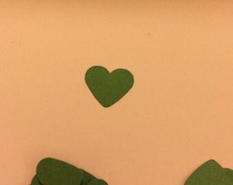 120ct dark green heart confetti