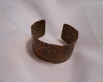 Handmade Patterned Copper Cuff Bracelet
