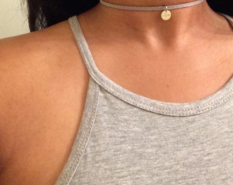 "Suede choker with ""Love"" Pendent"