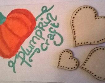 Set of three love hearts