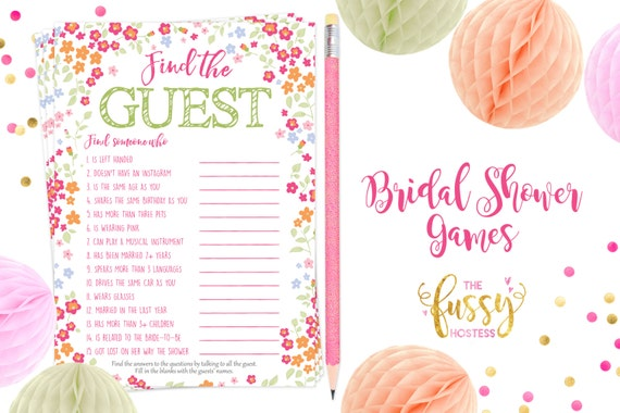 Find The Guest Bridal Shower Games Printable By