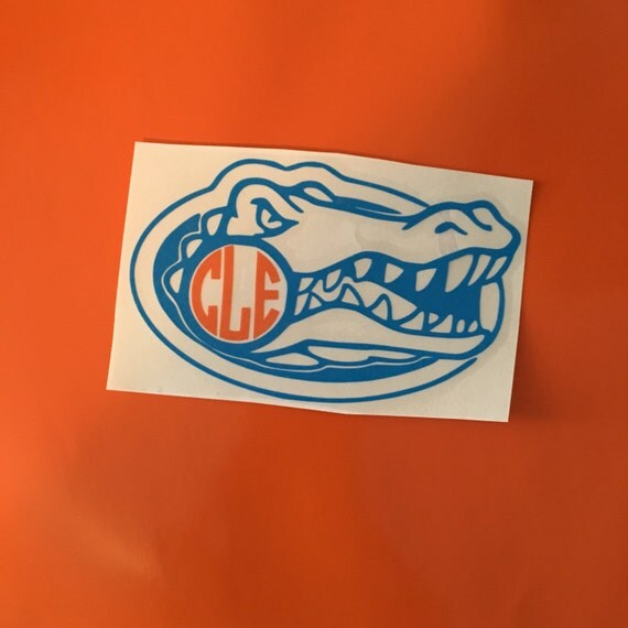 Florida Gator Stickers : Florida gators monogram decal personalized by sparkledesignco