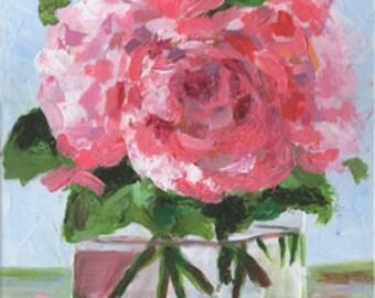 Pink Peonies No 1. Original Acrylic Painitng