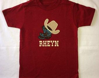 Custom appliqued western birthday shirt