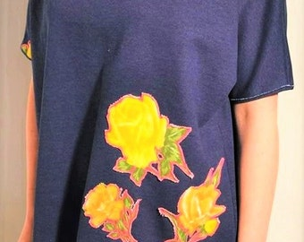 Sweater short sleeves 'ROSE BOUQUET'