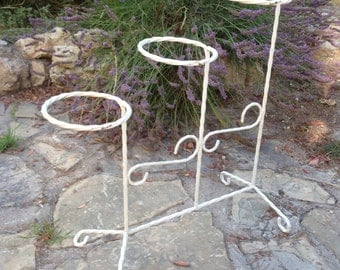 Door-planters vintage wrought iron, three support pots