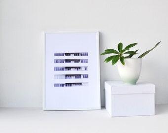 Modernist print, Minimalist Architecture, Black and White art, Giclee, Street Photography, Modern Wall Art, City print, Monochrome