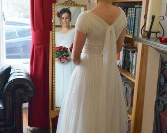 1950s Short Chiffon Gown