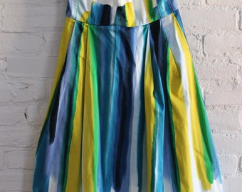Strapless Painted Strip-ey Dress