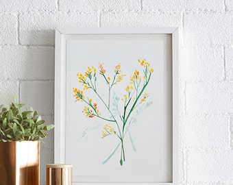Solid Aster Watercolor painting, Flowers, Floral Print, Printable art, Home decor, Original art, Floral wall art, Instant Download