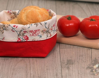 Reversible Fabric  Bread Basket
