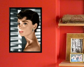 Vintage Photograph Poster Print - Audrey Hepburn