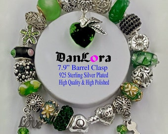 """DanLora """"Where Love Grows"""" Bracelet Chain and Charms"""