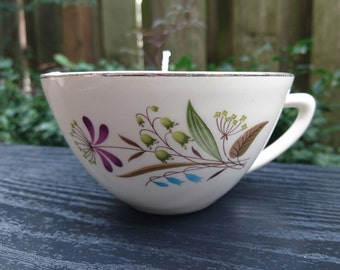RANDOM Unscented Soy Teacup Candle - made in Portland, Oregon - made in Portland, Oregon