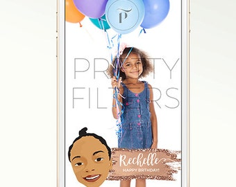 DIY Snapchat GeoFilter for Birthday | Personalised cartoon | We Customize for You | Perfect Gift