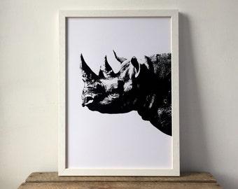 Rhino Print Etsy