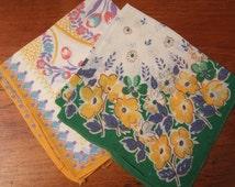 Two lovely silk handkerchiefs - 1930s/40s