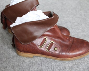 brown leather boots / ankle boots 7.5 / brown ankle boots