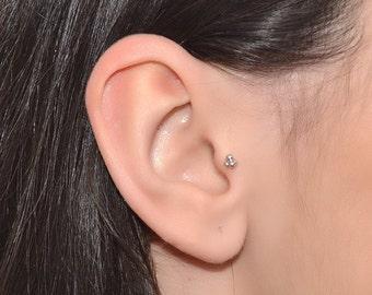 Silver Tragus Stud 16g / Nose Hoop, Nose Stud, Helix Stud, Cartilage Stud / Cartilage Earring, Tragus Earring, Nose Screw