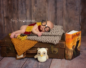 Harry Potter scarf and owl set