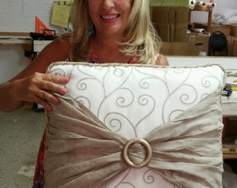 Designer Pillow with Hidden Pockets