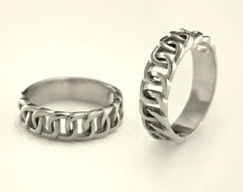 Unique matching wedding bands Couple wedding rings Vintage