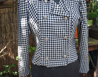 Jacket Plaid black and white 1950